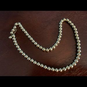 Antique beaded necklace with hook closure